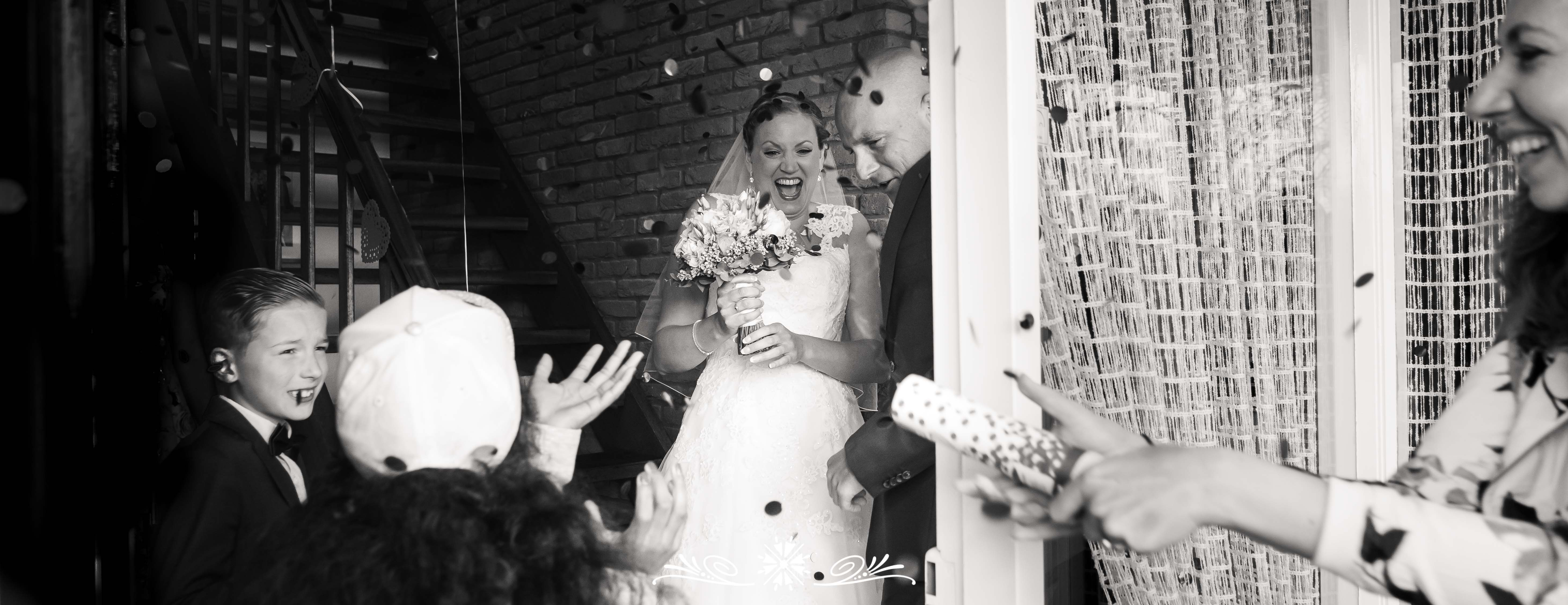 spontane bruidsfoto
