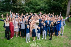 groepsfoto bruiloft trouwerij