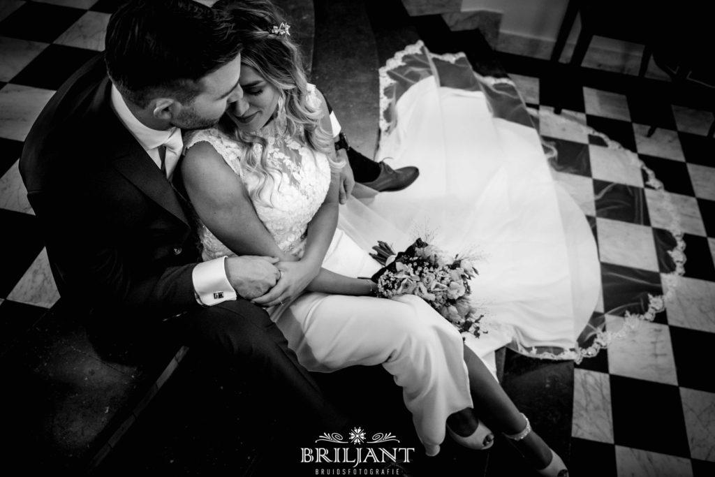 bruidsfoto zwartwit